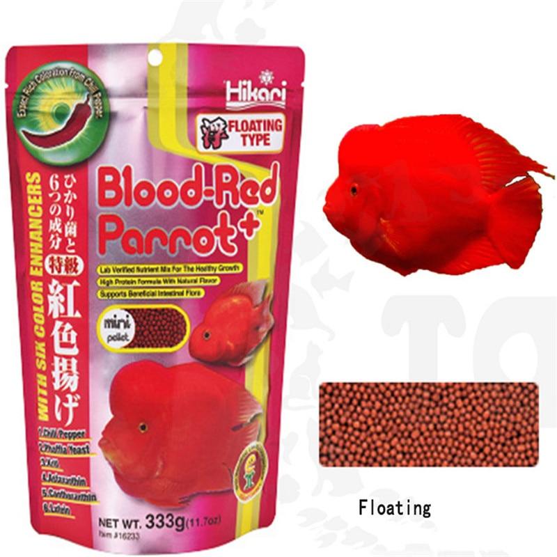 1 Piece Aquarium Ornamental Fish Feed Blood Red Parrot Fish Food Hikari 333g Floating Add Color