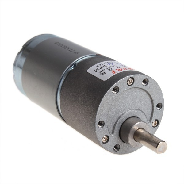 High Torque Electric Motor - 4 RPM 12V DC Gear Box Motor - 37mm  #001480-106