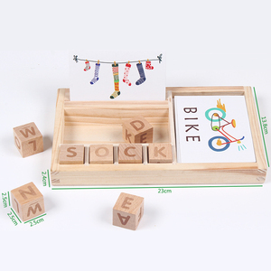 Image 5 - Candywood Wood Spelling Words Game Kids Early Educational Toys for Children Learning Wooden Toys Montessori Education Toy