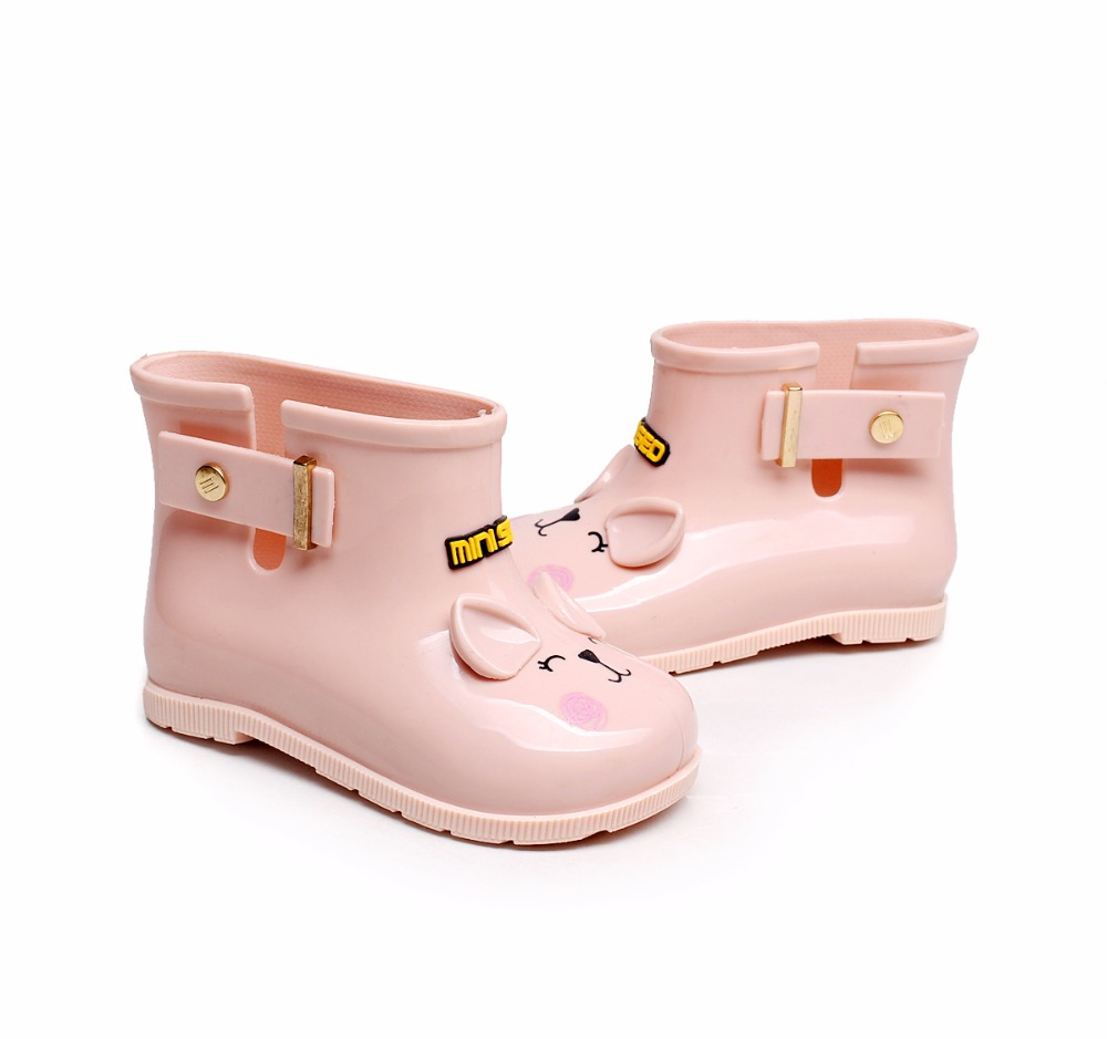 Mini Melissa 3 Color Rainboots Cat Shoes Baby Rainboot Unisex Rain Boots Girls Boots Non-slip Waterproof Boots 11.8cm-18.8cm