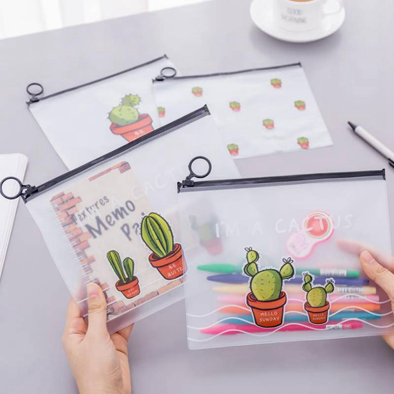 Cute Cactus Transparent Travel Cosmetic Bag Women Make Up Case Waterproof Makeup Beauty Wash Organizer Toiletry Storage Kit Box new arrive hot 2pc set portable jewelry box make up organizer travel makeup cosmetic organizer container suitcase cosmetic case