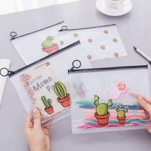 Cute Cactus Patterned Transparent Cosmetic Cases