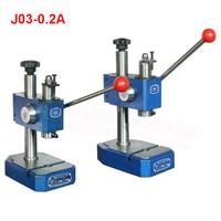 Aletler'ten Delme Makinesi'de J03 0.2A hassas manuel pres/el çekme yumruk  maksimum sıkma yükseklik 90mm  Nominal basınç 2KN manuel delme makinesi