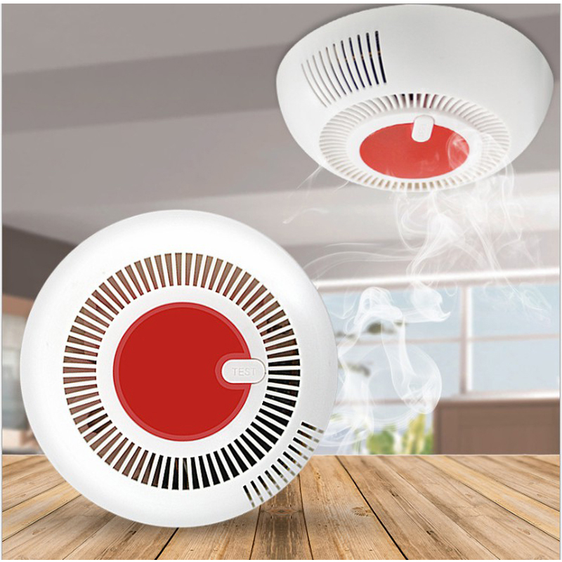 Wireless Stable Photochemical Fire Protection Smoke Detector Home Security Monitor High Decibel Independent Warning Alarm Sensor