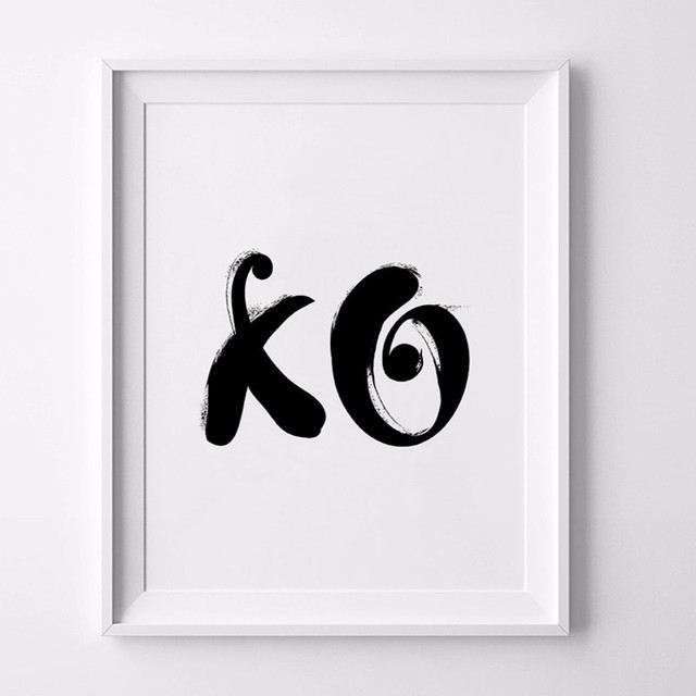 Aliexpress Buy Hot Xo Wall Art Hugs And Kisses Love Prints