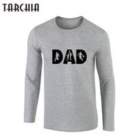 ShirtTARCHIA Brand Clothing DAD Printed 100 Cotton Men T Shirts Spring Autumn Male Long Sleeve O
