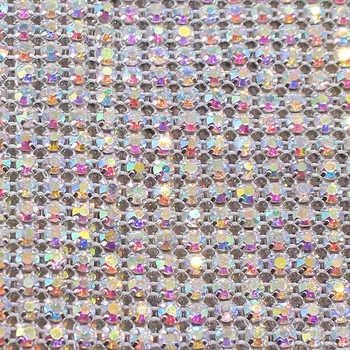 24 แถว Rhinestones Strass ตาข่าย 5 หลา Ss18 4.2 มิลลิเมตรคริสตัล Rhinestone Trimming non Tot Fix เย็บบน Rhinestones สำหรับเสื้อผ้า