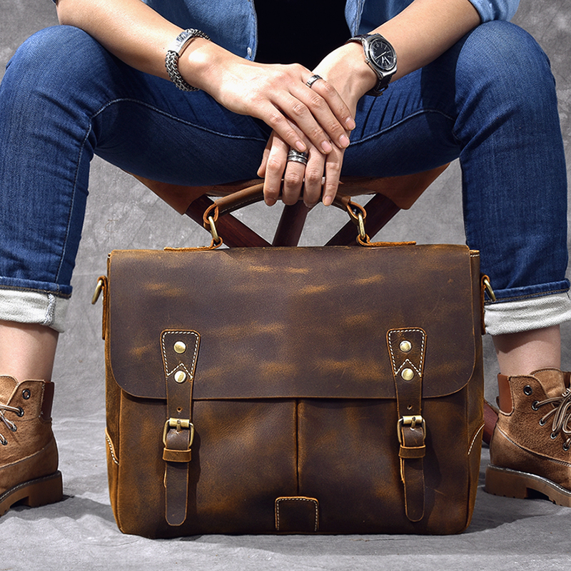 Luxury Leather Shoulder Bag handle