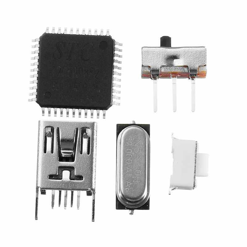 LEORY 25 шт. кристалл доска 3D светодио дный свет куб комплект аудио RC спектра ЦАП светодио дный музыка анализатор спектра USB для музыки MP3 усилитель