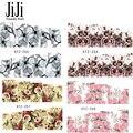 Jiji unhas na moda 1 pcs novos desenhos de unhas marca d ' água beleza completa Wraps flores coloridas impressão de adesivos de unhas decalques de arte STZ255-262