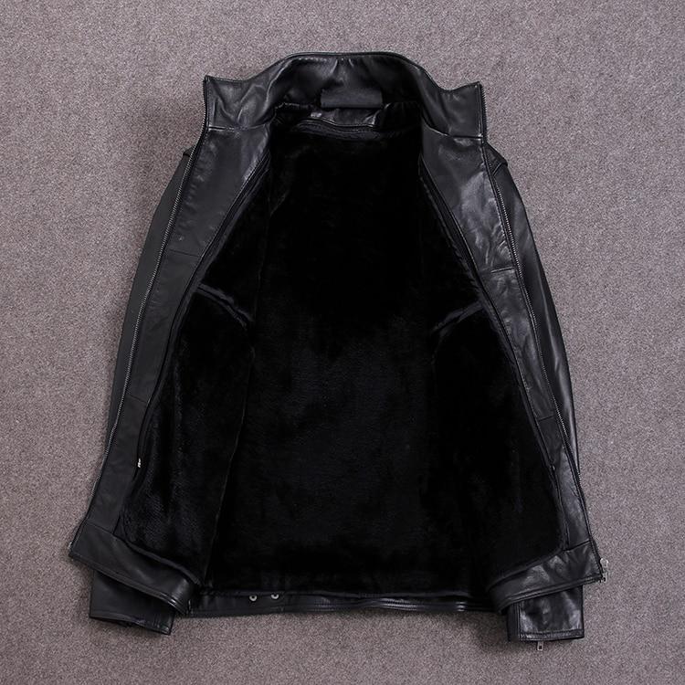 Free shipping.plus size Brand leather coat,man genuine leather Jackets,winter warm sheepskin jacket,casual style False,cheap