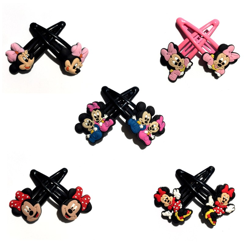Hair Jewelry 3pairs Mickey Minnie Novelty Girls Hairpins Baby Girls Cartoon Hair Clips Kids Tiara Hairclips Headwear Ornaments Kids Gifts For Sale Jewelry & Accessories