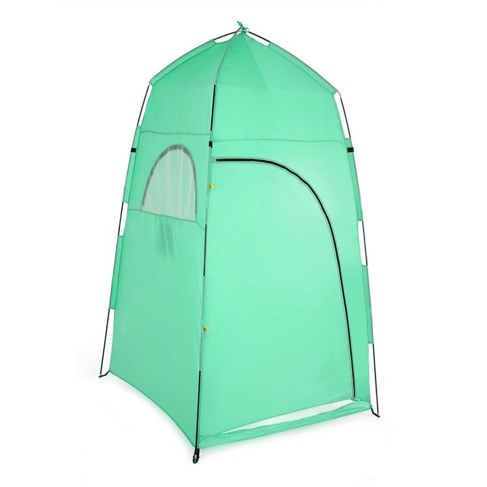 mudando chuveiro banho abrigo montagem quarto tenda