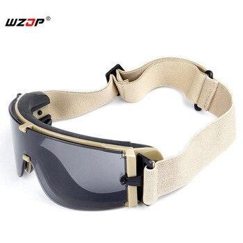 WZJP X800 Goggles Airsoft Paintbal Tático Engrenagem Segurança Googles Caça Ao Ar Livre Tiro Óculos de Proteção Militares 3 Lente