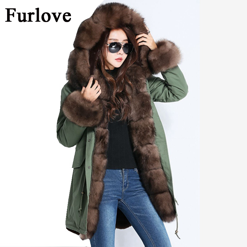 Women Winter Jacket 2017 Vintage Long Parka Coat Fur Jackets Real Fox Fur Collar Fashion Russian Style Hooded Coats Thick Parkas 2017 winter new clothes to overcome the coat of women in the long reed rabbit hair fur fur coat fox raccoon fur collar