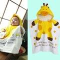 2015 Nueva Forma Animal Del Bebé Con Capucha Albornoz Del Bebé Albornoz Toalla de Baño Del Bebé Niño Mantas de Bebé Toalla de Baño Infantil Neonatal