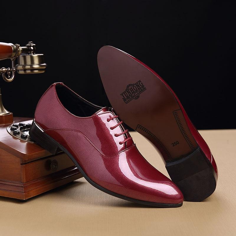 Vestido Couro 48 De Verão Homens Msw8108022 red Designer 38 Sociais Sapatos Homem Elegante Dos Black dxWTx1Y