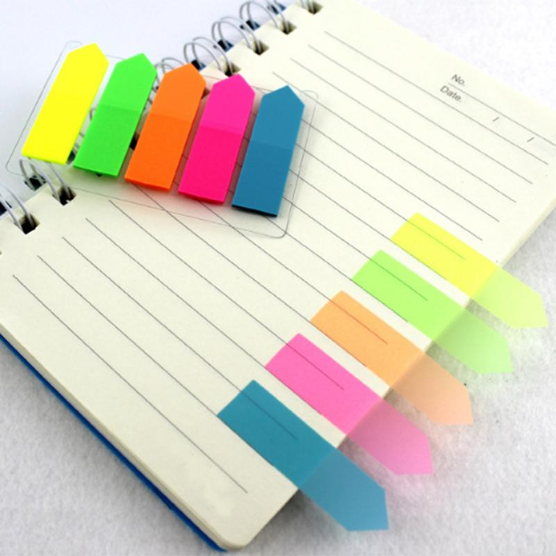 Plastic Self Adhesive Sticky Notes Memo Pad Notebook Category Label Page Index Tag Post Planner Stickers Office School Supply