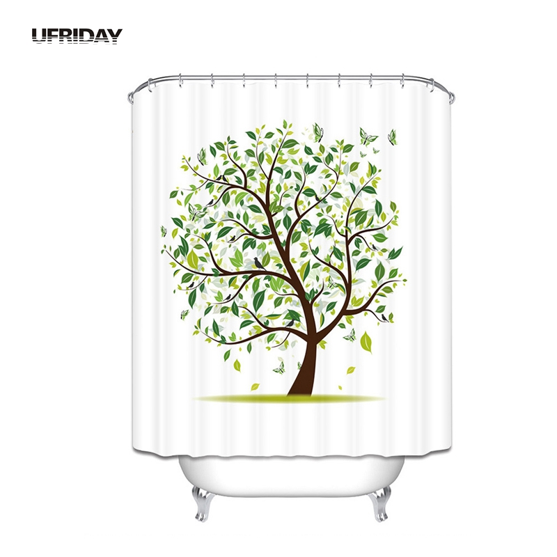 Ufriday 3d hand drawing tree shower curtain eco friendly - Rideau de douche polyester ...