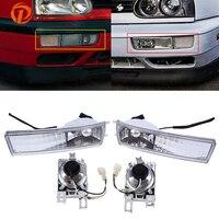 POSSBAY 12V Car Fog Lights Halogen Foglamps for 1993 1994 1995 1996 1997 1998 VW Jetta Models Only Auto Daytime Running Lights