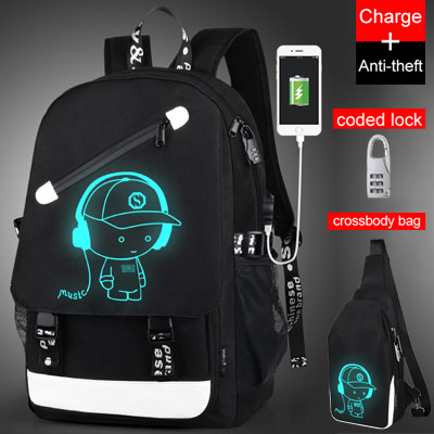 Luminous Animation Back to School Backpack 3