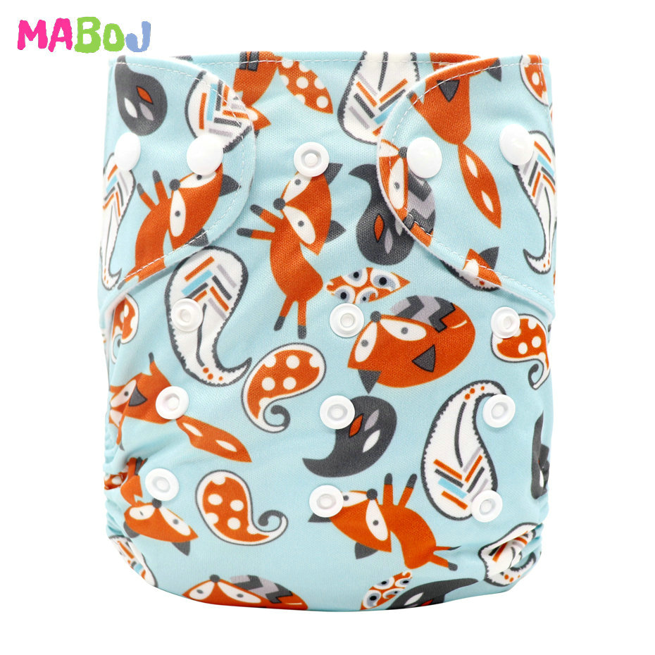 MABOJ Diaper Baby Pocket Diaper Washable Cloth Diapers Reusable Nappies Cover Newborn Waterproof Girl Boy Bebe Nappy Wholesale - Цвет: PD5-5-5