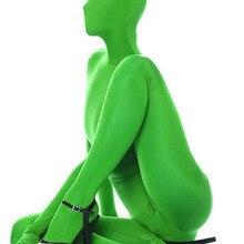 Новинка, зеленый костюм Zentai Unitard из лайкры и спандекса, вечерние костюмы на Хэллоуин, костюмы для взрослых, любой размер, Acept