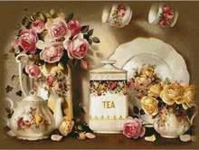 5d diy Алмазная картина цветы пиона вышивка крестиком полностью