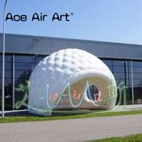 High quality inflatable golfball replica Nice cabin Photo Booth dome tent with blower for event