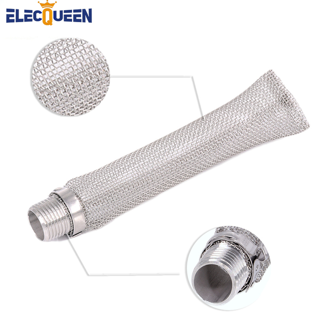 "304 Stainless Steel Bazooka screen W/1/2"" NPT Thread, 6 inch /15cm Beer Mash Filter/beer Mash kettle For Beer home brewing"