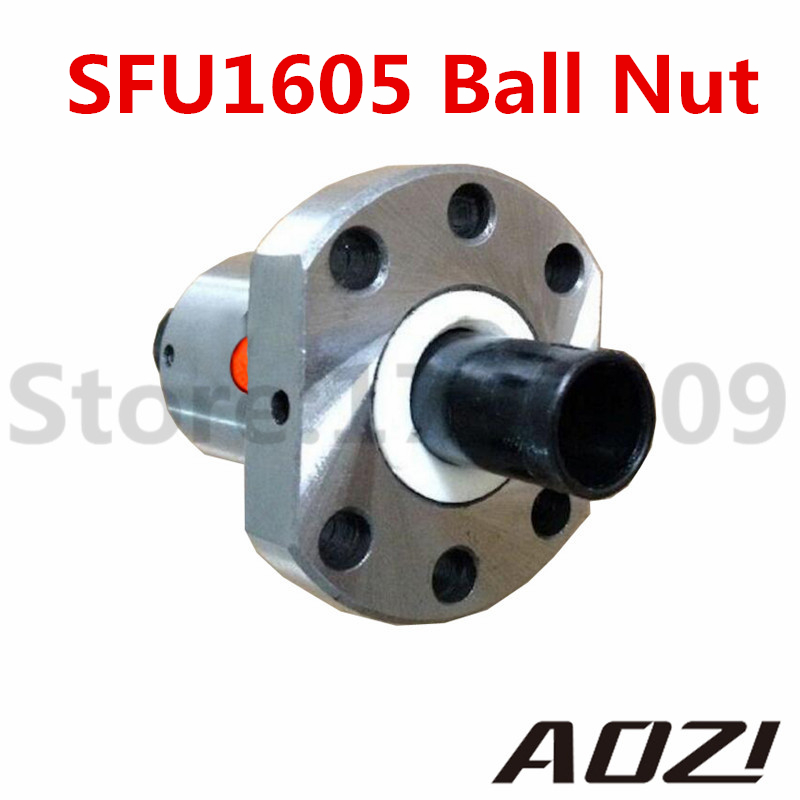 1pc SFU 1605 RM 1605 Anti Backlash Ball Nut Ballnut For 1605 Ballscrew (Only Ball Nut , No Ball Screw) For Ball Screw 1605 CNC topperr 1605