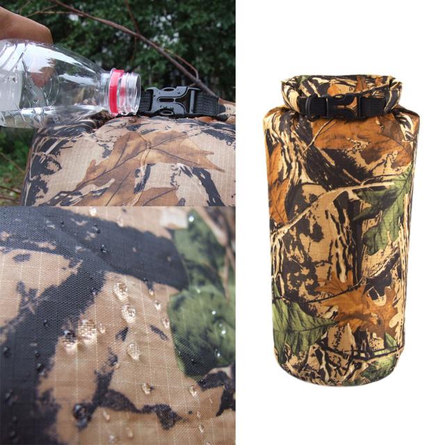 Portable 8L Camouflage Waterproof Bag Storage Dry Bag For Outdoor Canoe Kayak Rafting Camping Climbing Hike