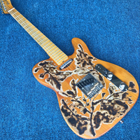 Free Shipping Ancient Old Elm Electric Guitar Fire Artwork 2018 New Electric Guitar gisten
