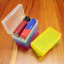 1pcs/lot 18650 lithium battery rechargeable box storage waterproof transparent plastic