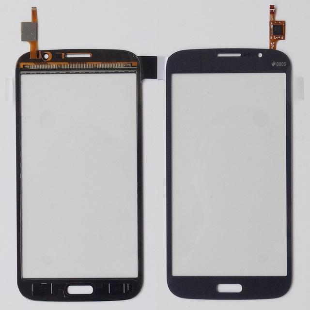 Duos tela sensível ao toque do telefone móvel para samsung galaxy mega 5.8 i9150 i9152 touch screen digitador frente lente de vidro do painel sensor wt/bk