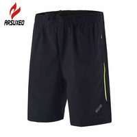 ARSUXEO Outdoor Summer Sports Shorts Training Fitness Riding Jogging Men S Athletics Male Black Boxers Quick