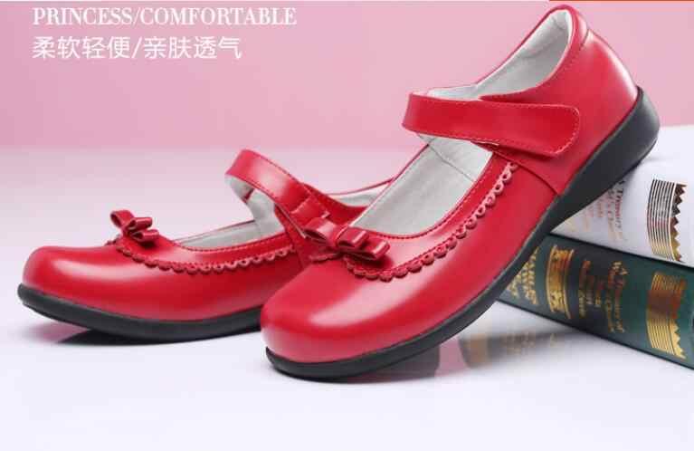 da8e9d68763c3 ... Children Girl Student Shoes School Black Leather Shoes Girls Fashion  Princess Shoes Kids Classic Glowing Uniforms ...