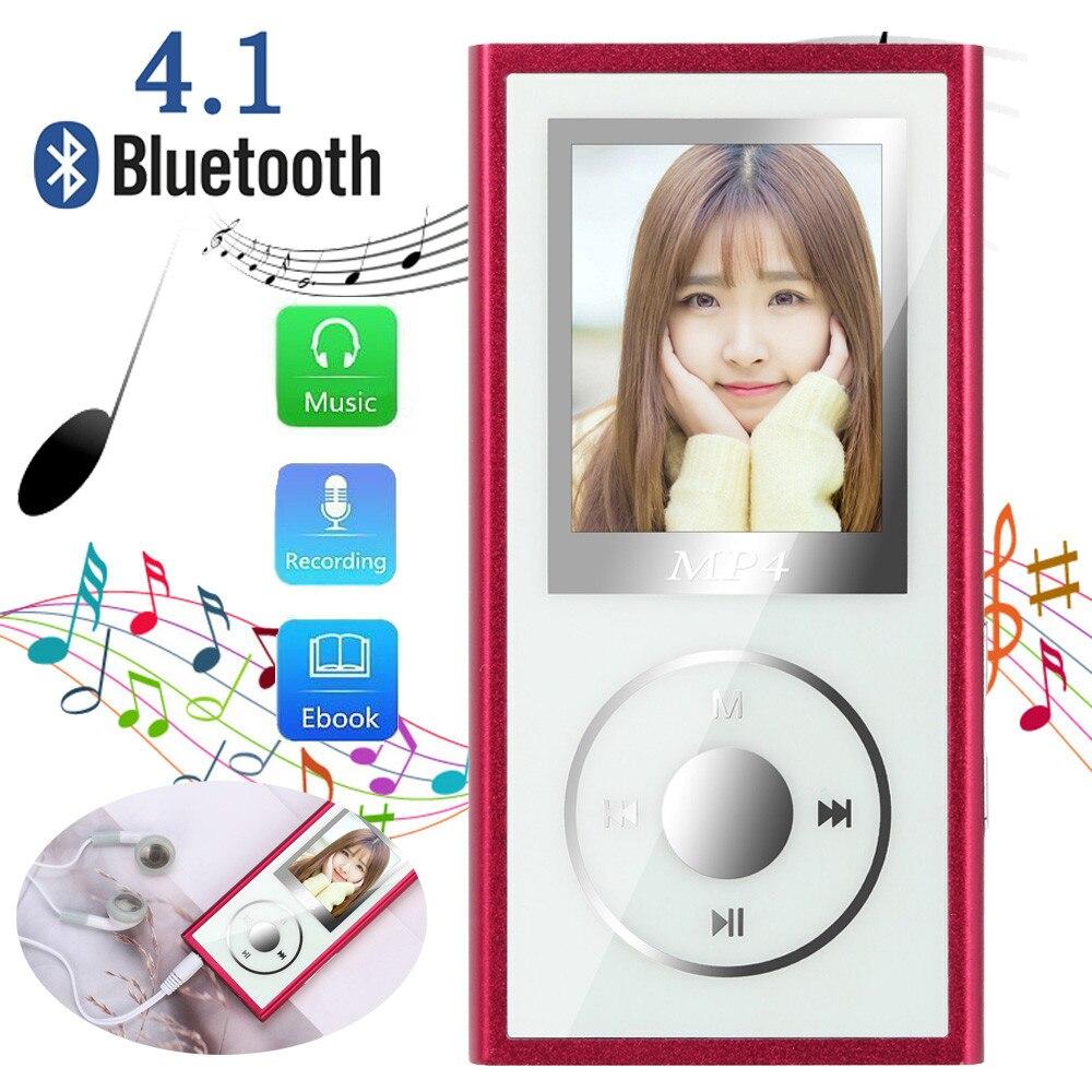 Mp4 Player Zielsetzung Bluetooth 4,1 4 Gb Mp4 Flac Musik Video Player Txt E-buch Fm Radio Mp 4 Media Mit Ohrhörer 3,5mm Kopfhörer Jack Mini Usb Kabel Exzellente QualitäT Unterhaltungselektronik