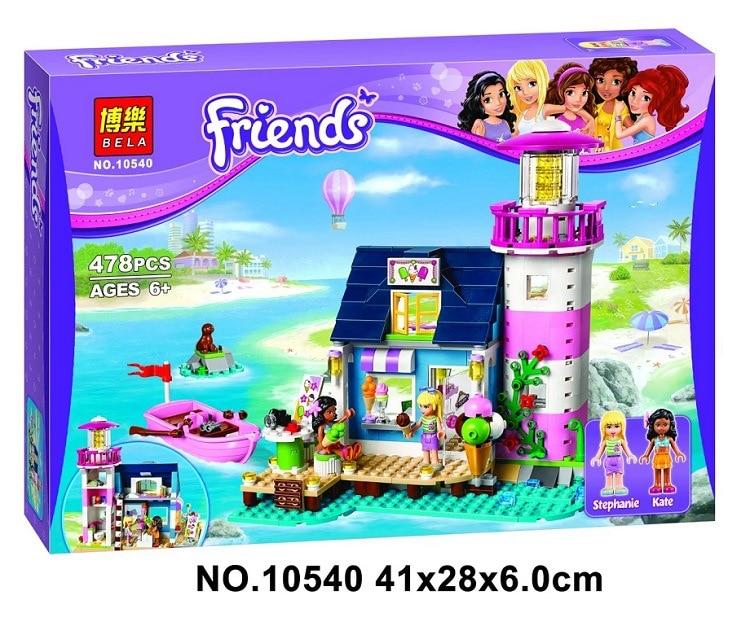 Bela 10540 478Pcs Compatible legoings Friends 41094 Heartlake Lighthouse Model Building Kits Blocks Bricks Toys for children lego маяк 41094