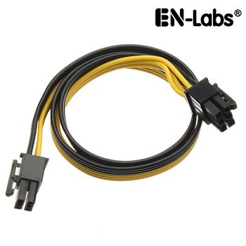 En-Labs PCIe 6pin Male to Male PCI-E Power Cable for GPU Power Supply Breakout Board Adapter for Ethereum Mining ETH ZEC