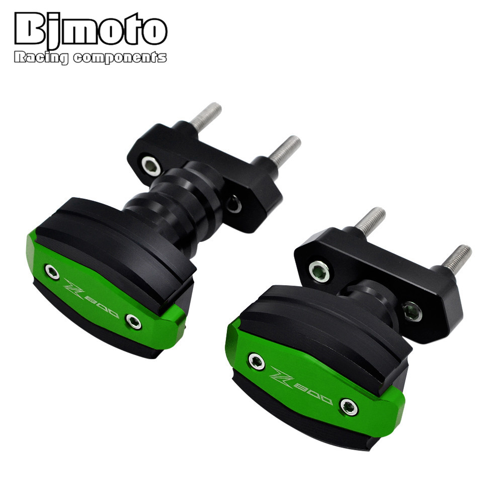 BJMOTO Motorcycle CNC Aluminum Left and Right Frame Slider Anti Crash Protector For Kawasaki Z800 2013 2014 2015 2016 2017 motorcycle cnc aluminum frame sliders crash pads protector suitable for kawasaki z800 2012 2013 2014 2015 2016 green