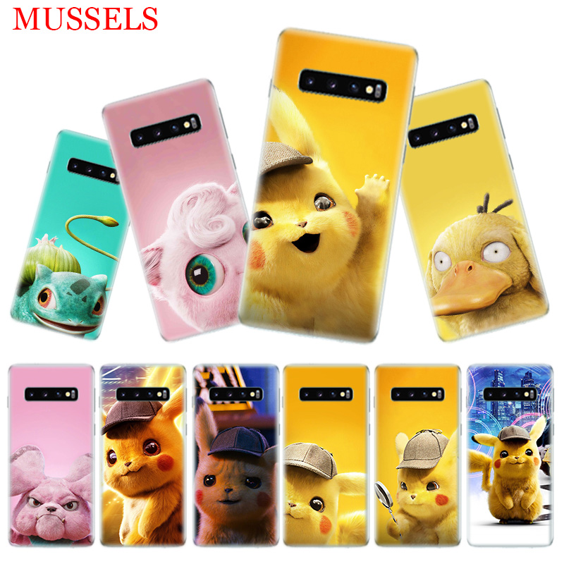 Pikachue Movie Luxury Phone Case for Samsung Galaxy S10 Plus S10E Lite A50 A70 A30 A10 A20E M30 M20 M10 A20 A80 A40 A60 Coque