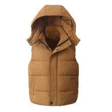 Детский жилет Детская верхняя одежда зимние пальто Детская одежда Теплый хлопковый жилет с капюшоном для маленьких мальчиков и девочек от От 5 до 14 лет