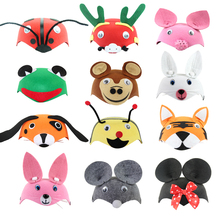 Kids Cartoon Animals Cap Hat Halloween Christmas Children's Day Gift Costume Dress Up Props Caps for Children Boy Girl