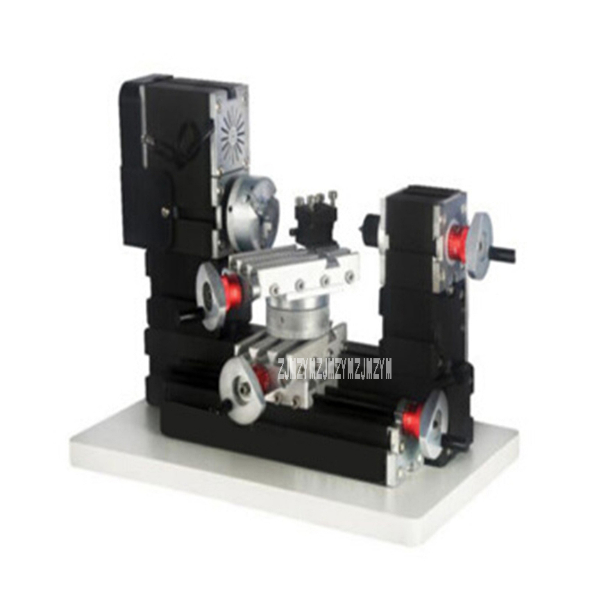 High-power Mini Metal Machine Tool Milling Machine Rotary Lathe DIY Woodwork Metal Lathe Rotating Lathe 110V/220V 60W 12000r/min 12000r min 60w all metal 8 in 1 mini lathe without bow arm milling drilling wood turning jag saw sanding machine