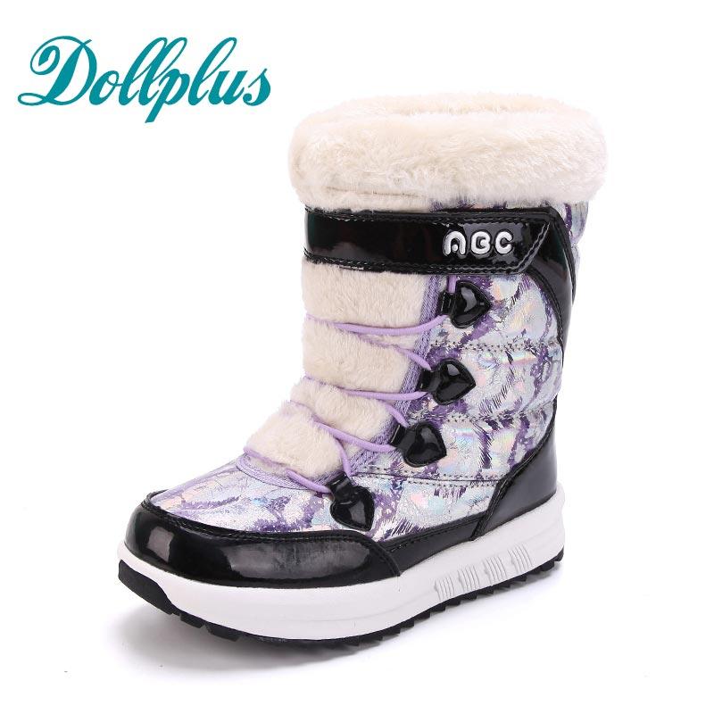2017 NEW Winter Baby Girls Warm Snow Boots Kids Boots Fashion children boots  Waterproof Non-Slip Girls Shoes Eur Size 31#-37