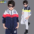 Children's clothing 2016  autumn and winter child sets  boys sets long sleeve+pants sports casual suit sets for 4-16 years