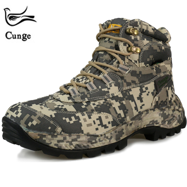 CUNGE Army Tactical Hiking Comat boots Camouflage Outdoor Professional Climbing Shoes