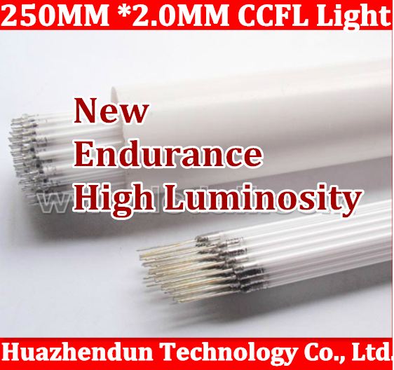 10pcs/lot Free shipping Supper Light CCFL 250 mm * 2.0 mm LCD Backlight Lamp tube 250mm