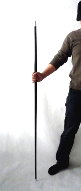 Black steel magic canes 1.3M - Trick,paper mache mask,magic tricks,fire,props,dice magic,comedy